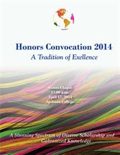 2014 Honors Convocation Program