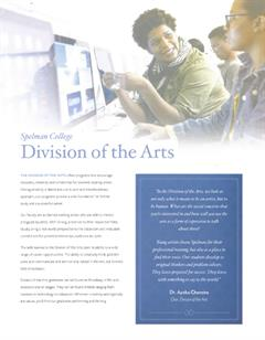 Division of the Arts Brochure