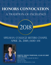 Honors Convocation 2018 Program