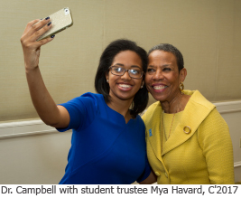 Dr. Campbell and Student Selfie
