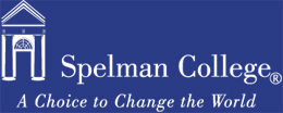 Spelman College Logo preview (blue background for illustration purposes)