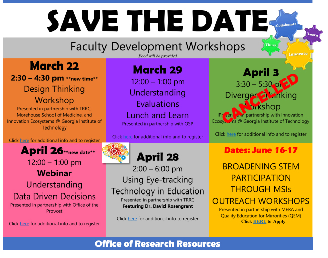 ORR Faculty Development Workshops