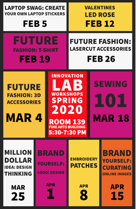 Innovation Lab Spring 2020 Workshops