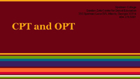 CPT and OPT Presentation