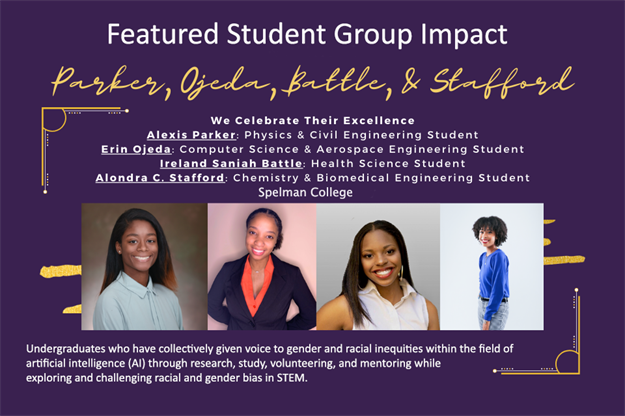 Spelman Students Awarded WOCI Student Group Impact