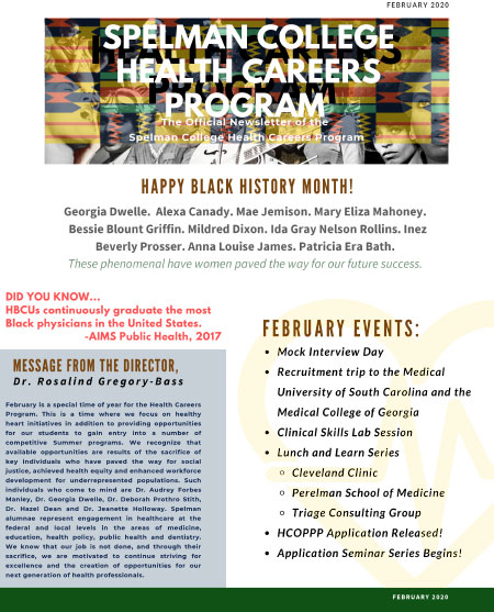 Health Careers Newsletter - Feb 2020
