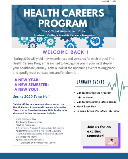 Health Careers Newsletter-Jan 2020