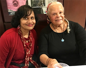 Dr. Parekh with Dr. Martin, Feb. 2018 at the Octavia Butler conference