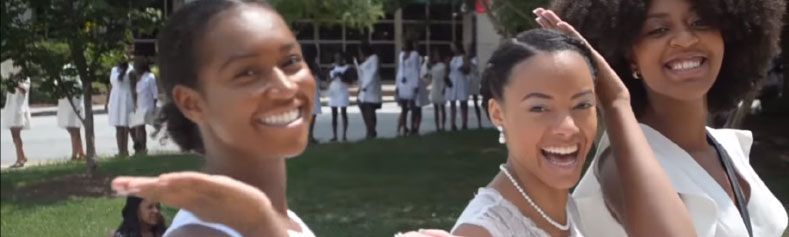 Spelman Students in White Attire