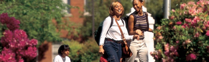 Students Walking on Spelman Campus