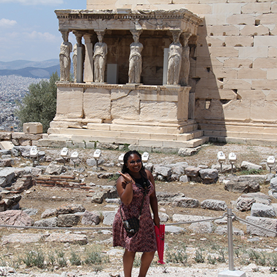 Spelman Student  Niarah Russell in Greece