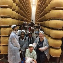 Study Abroad Italy Parmesan Factory
