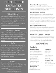 Responsible Employee Guidelines