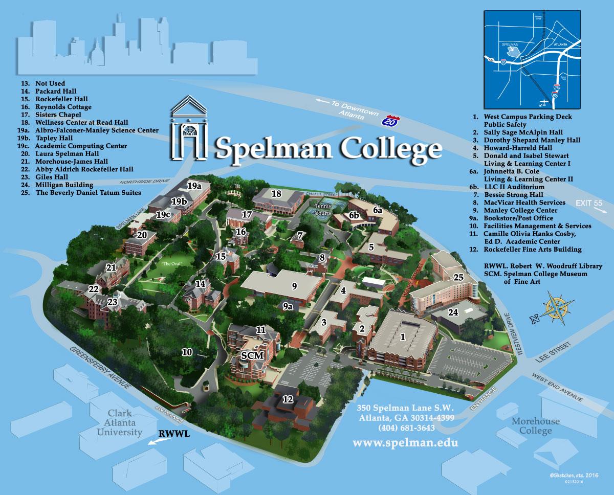Campus Map   Spelman College