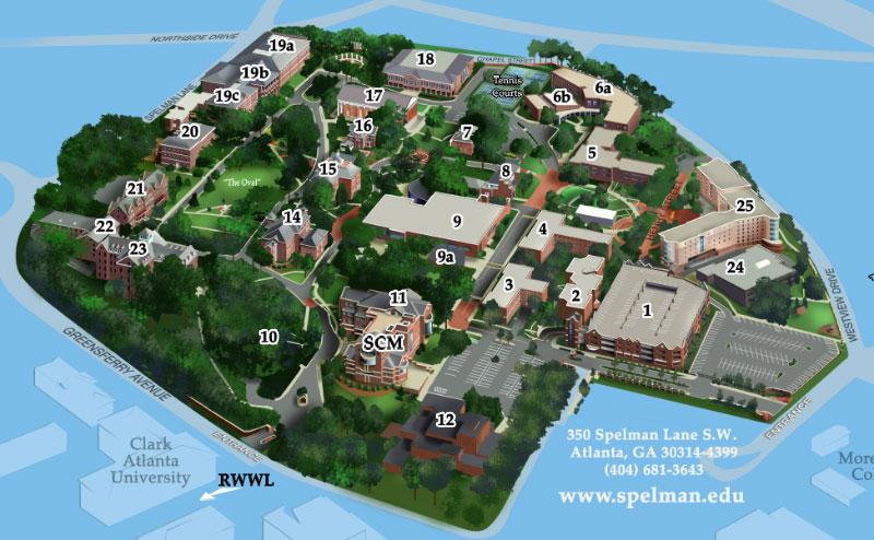 Rockefeller University Campus Map.Campus Map Spelman College