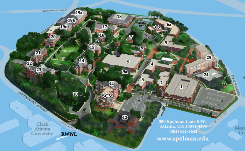 Spelman College Campus Map
